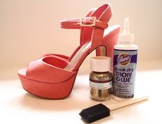 DIY Glitter Heels - Cheap Fashion Projects - Seventeen You can also use Mod-Podge instead of glue