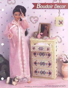 tocador y lamparita | labores de esther. todo para barbie