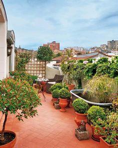 Radiant attic apartment transformed in Spain  If I had a sunny balcony ...