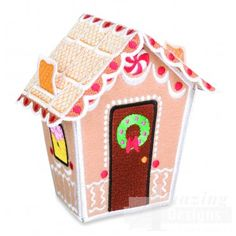 Gingerbread House 1 Embroidery Design