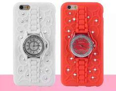 Diamond Watch Kickstand Silicone iPhone 6, iPhone 6 Plus, iPhone 6s, iPhone 6s Plus Case