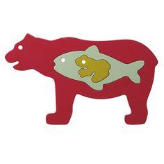 muji Puzzle Bear Fish Frog
