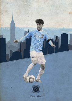 Football Posters on Behance - David Villa - New York City FC