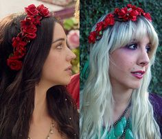 Reign Mary Queen of Scots Flower Crown Headband Copy with Red Roses (Flower Halo, CW, Episode 2, Music Festival, Fairy, Princess, Weddings) $28.50 by LoveCarolineO