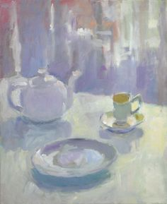 Teapot Still Life, oil on linen, 45.6cm x 55.6cm (2010-25) Lynne Cartlidge