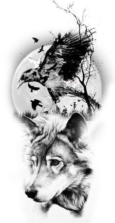 Native Tattoos, Eagle Tattoos, Wolf Tattoos, Body Art Tattoos, Tattoo Drawings, Sketch Tattoo Design, Wolf Tattoo Design, Raabe Tattoo, Girl Face Tattoo