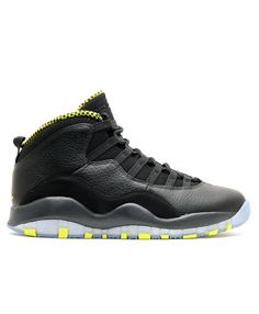 10db9b8966b1 Air Jordan Retro 10 Venom Black Vnm Green Cl Gry Anthrct 310805 033