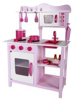 Køb Woodlii Køkken Lyserød | Legetøj Det lille Hjem | Jollyroom