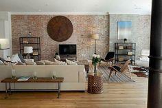 perete caramida living (4) Brick walls libingrooms