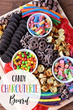 Fun Candy Charcuterie Board Ideas - Candy - Ideas of Candy - Candy Charcu. - Fun Candy Charcuterie Board Ideas – Candy – Ideas of Candy – Candy Charcuterie Board-T - Charcuterie Recipes, Charcuterie Platter, Charcuterie And Cheese Board, Cheese Boards, Party Food Platters, Party Trays, Snacks Für Party, Party Food Ideas, Parties Food