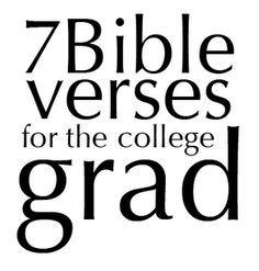 Sick Religion: Graduattion Bible verses and Prayer