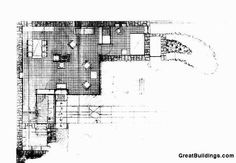 Le Corbusier, Weekend House, Plan