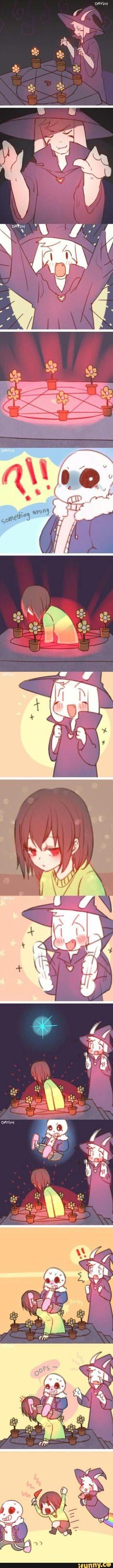 Asriel's doing a satanic ritual...  Credit to artist