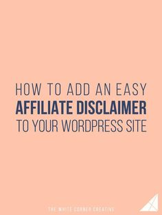 Using affiliate links is a great way to make money, but to be legal you have to include an affiliate disclaimer. Here's an easy way to add one. (scheduled via http://www.tailwindapp.com?utm_source=pinterest&utm_medium=twpin&utm_content=post149609491&utm_campaign=scheduler_attribution)