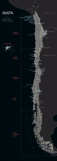 Chile antes de Chile | Mapa Native American Map, Boot Camp, Science Illustration, I Want To Know, Science And Nature, Central America, Places To Go, Bolivia, Patagonia