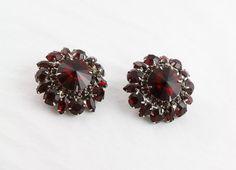 Juliana Red Earrings by MJGTreasures on Etsy