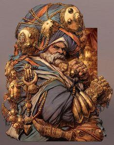 The Sikh, Dave Rapoza, Digital Art, 2019 Fantasy Character Design, Character Concept, Character Inspiration, Character Art, Concept Art, Character Creation, Dnd Characters, Fantasy Characters, Warriors Wallpaper