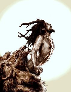 Bob Marley from the Lion's mouth by Lee Bermejo