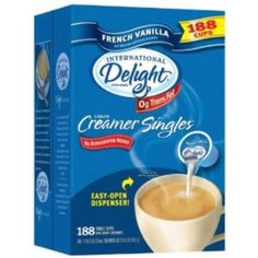 I'm learning all about Coffee Creamer Singles International Delight French Vanilla 188 Cups at @Influenster!