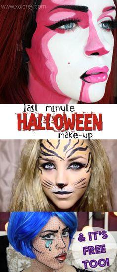 Last Minute Halloween Make-up! (Free Costume DIY Ideas!) -
