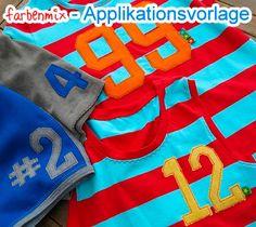 Geburtstagszahlen Applikationsvorlage Anleitung Gratis Tutorial farbenmix