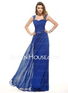 Evening Dresses - $139.69 - A-Line/Princess Sweetheart Floor-Length Chiffon Evening Dresses With Ruffle Beading (017016054) http://jenjenhouse.com/A-Line-Princess-Sweetheart-Floor-Length-Chiffon-Evening-Dresses-With-Ruffle-Beading-017016054-g16054