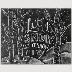 Let It Snow Sign Birch Tree Decor Chalkboard door LilyandVal - Chalk Art İdeas in 2019 Chalkboard Decor, Chalkboard Lettering, Christmas Chalkboard, Large Chalkboard, Blackboard Wall, Chalkboard Drawings, Chalkboard Background, Chalk Pens, Chalk Art