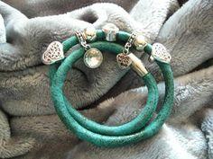 Wickelarmbänder - Tolles Wickelarmband grün - ein Designerstück von Ringfreak bei DaWanda