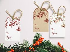 Unique Bronze and Red Glitter Mistletoe Christmas Gift Tag Christmas Gift Tags, Christmas Ornaments, Light Crafts, A4 Paper, Red Glitter, Handmade Items, Handmade Gifts, Mistletoe, Bronze