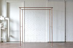Copper+Arbor: A simple but stunning piece that adds a beautiful metallic accent or a hint of industrial aesthetic to your wedding ceremony set up, trade show booth or visual display.