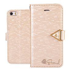 Apple iPhone 5 / 5S Kultainen Leiers Suojakotelo  http://puhelimenkuoret.fi/tuote/apple-iphone-5-5s-kultainen-leiers-suojakotelo/