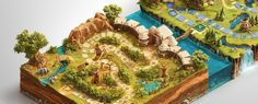 US based agency Nomadic needed a hand in creating complex and rich in detail image that would capture the essence of Disney brand for the purpose of Disney Vacation Club Sweepstakes online board game experience. Board game was meant to cover five islands where you could find many Disney Vacations Club attractions.