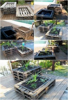 Wood Pallets 66768 DIY Recycled Wood Pallet Planters: Planters are being categorized into different shapes and designs and even in sizes. You can readily opt out for the one that planters according to. Recycled Planters, Wood Pallet Planters, Recycled Pallets, Diy Planters, Recycled Wood, Wood Pallets, Pallet Wood, Wood Wood, Garden Planters