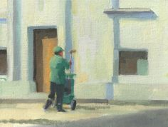 """El Barrendero """"The Sweeper"""". No giant trucks to clean the streets. These guys are out doing it by hand. What a job!    """"A Portrait of Argentina""""  is my #pleinair #art expedition www.antrese.com"""