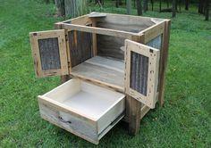 Rustic Vanity 36 Reclaimed Barn Wood w/Tin Doors 6646 by Keeriah