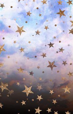Cloudy Stars Framed Art Print by Nikkistrange - Vector Black - Star Wallpaper, Wallpaper For Your Phone, Screen Wallpaper, Cool Wallpaper, Ipad Wallpaper Kate Spade, Glitter Wallpaper, Cute Wallpaper Backgrounds, Pretty Wallpapers, Tumblr Wallpaper