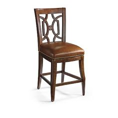Our Regency Barstools Have A Slightly Distressed Mahogany