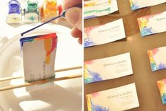 Cool! DIY tie-dyed business cards