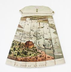 If It's Hip, It's Here: A Worldly Wardrobe: Beautiful Vintage Maps As Dresses and Shirts By Elisabeth Lecourt