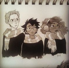 Ron, Harry and Hermione by burdge