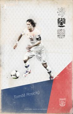 EURO 2012 football player by Giuseppe Vecchio Barbieri, via Behance