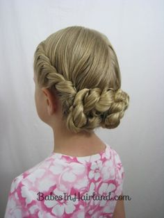 French Twisted Updo from BabesInHairland.com