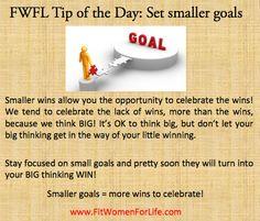 http://fitwomenforlife.com Set Smaller Goals!
