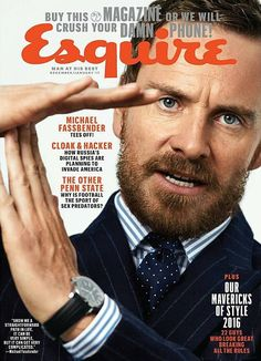 Michael Fassbender photographed by Cedric Buchet for Esquire Magazine - December 2016