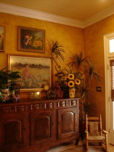 tuscan inspired finish that resembled old plaster