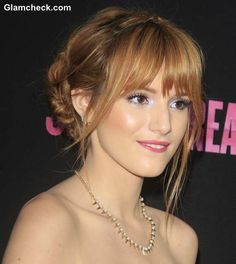 Doube Braided Updo Bella Thorne hairstyle