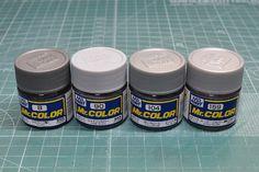 Mr.カラー・ガイアカラーのシルバー塗料各種を比較してみました。 | ガンダムブログはじめました Color, Colour, Colors