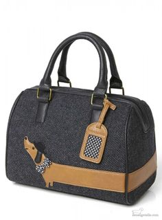 Black Arthur Sausage Dog Bag
