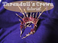 thranduil I See Fire, Thranduil Cosplay, Diy Crown, Lord Of The Rings, The Hobbit, Brooch, Costumes, Jewelry, Youtube