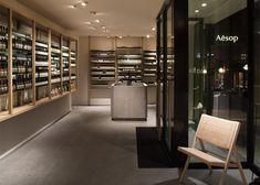 spar supermarket displays groceries between curved wooden. Black Bedroom Furniture Sets. Home Design Ideas